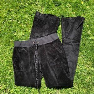 Y2K JUICY COUTURE VELOUR TRACK PANTS!